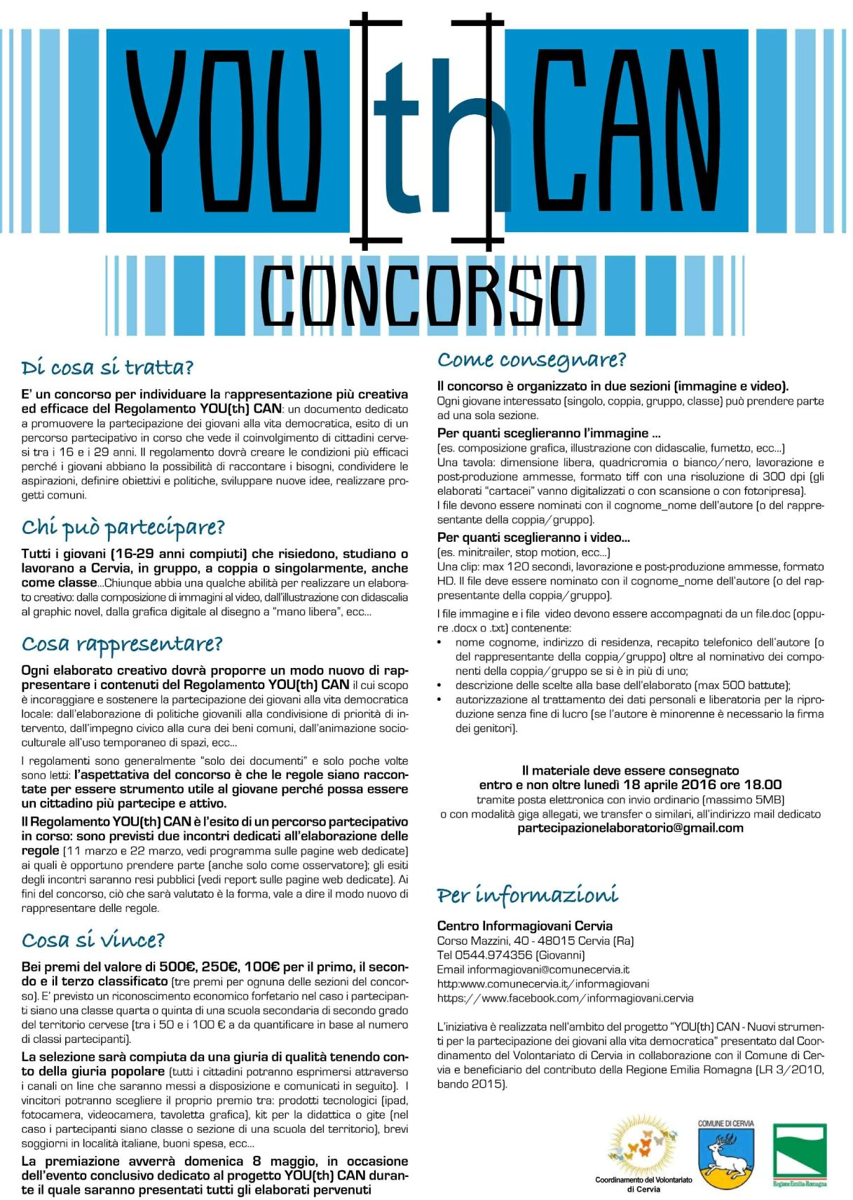 bando del concorso you(th) can cervia