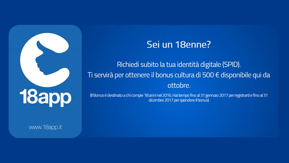 bonus 18app - 500€ da spendere per i ragazzi e ragazze nati nel 1998