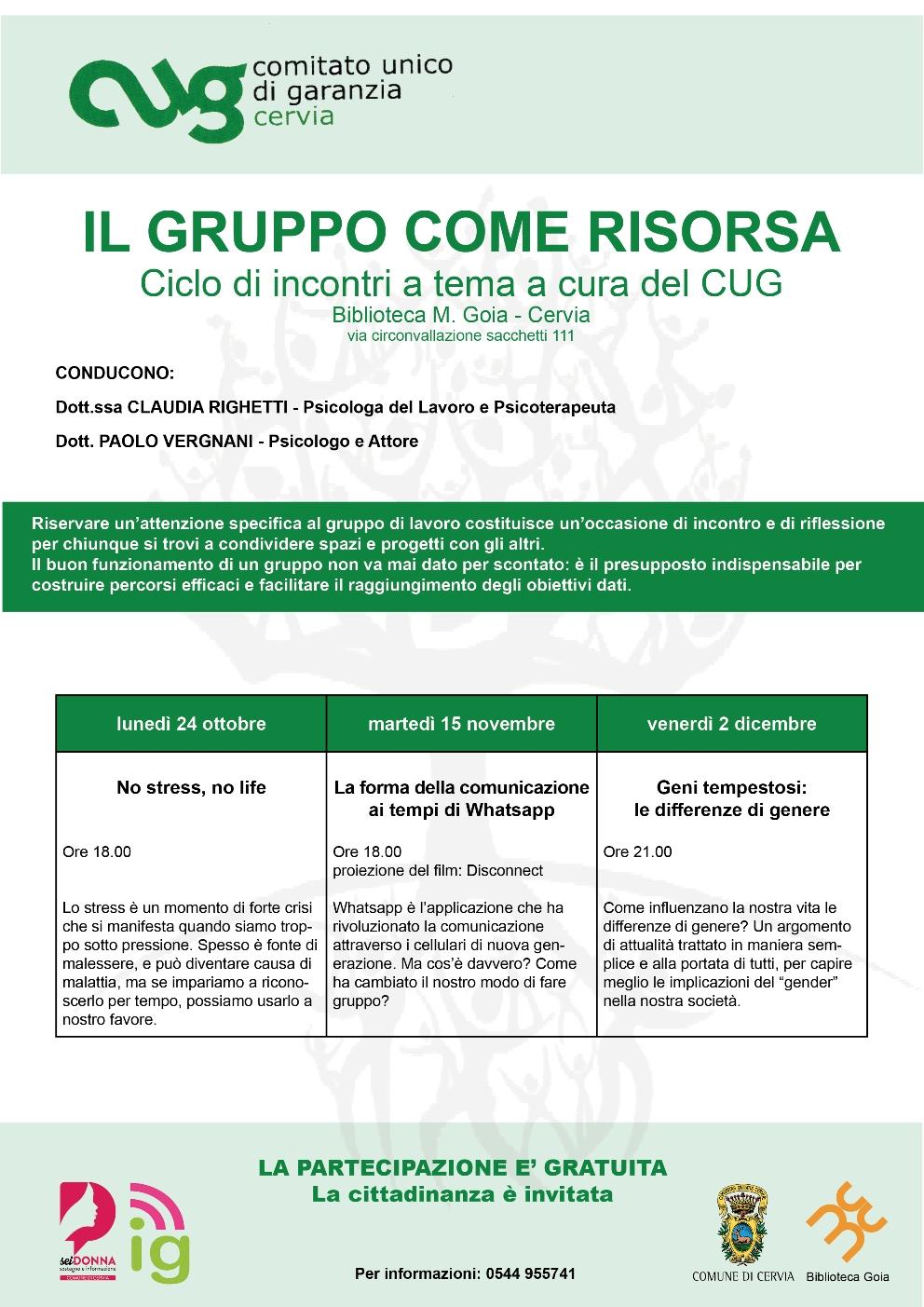 programma generale incontri comitato unico di garanzia